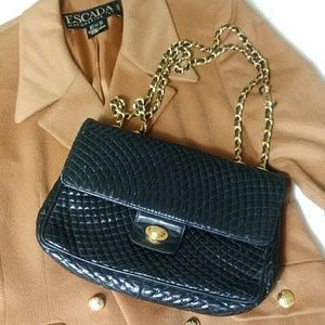Bally quilted medium double flap handbag